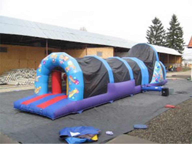 J4L Bouncy Castle Hire Multi Colored Fun Run