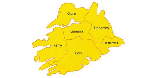 map of Bouncy Castle hire Cork Kerry