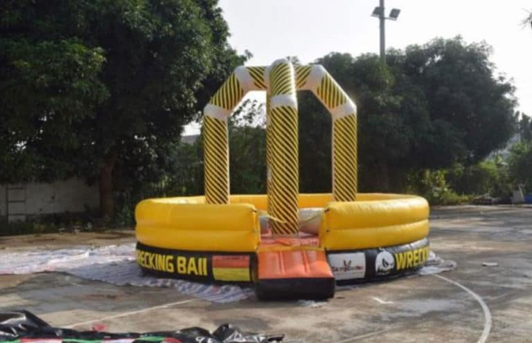 wrecking ball bouncing castle for hire just 4 leisure